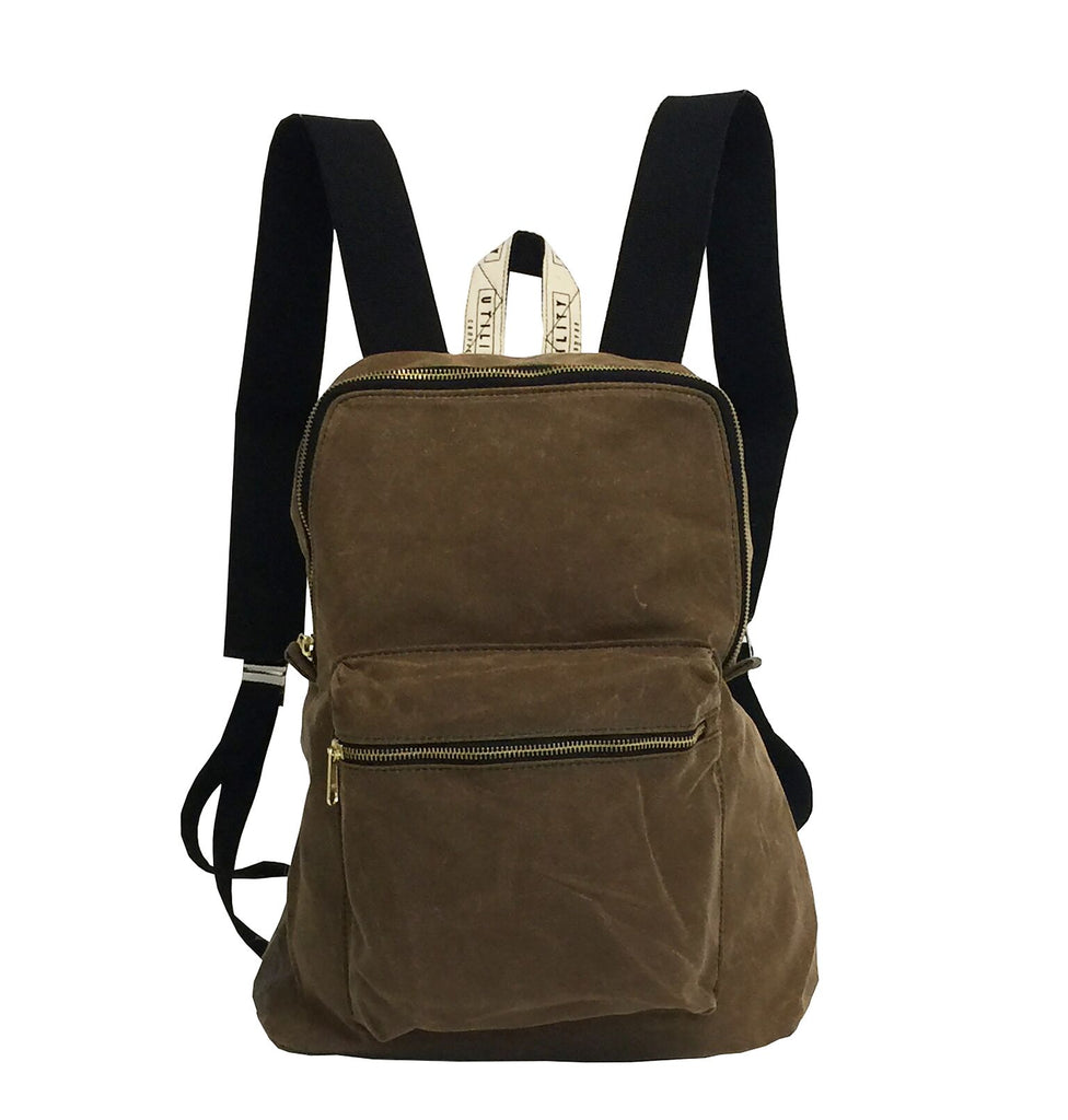 Waxed Backpack - tan