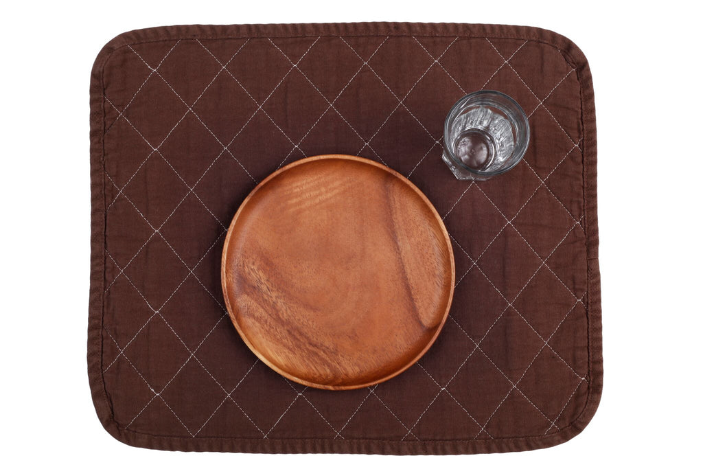 Quilted Placemat - chocolate