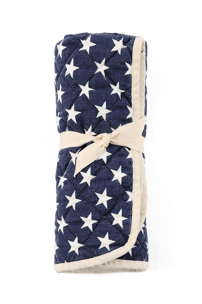 Copy of Quilted Floor Mat - navy stars