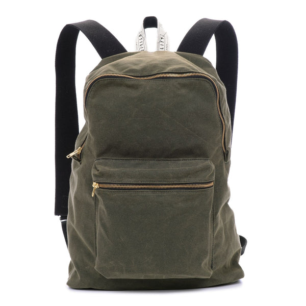 Waxed Backpack - olive
