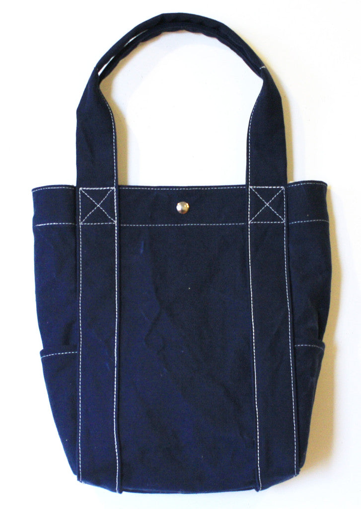 washed tote - navy