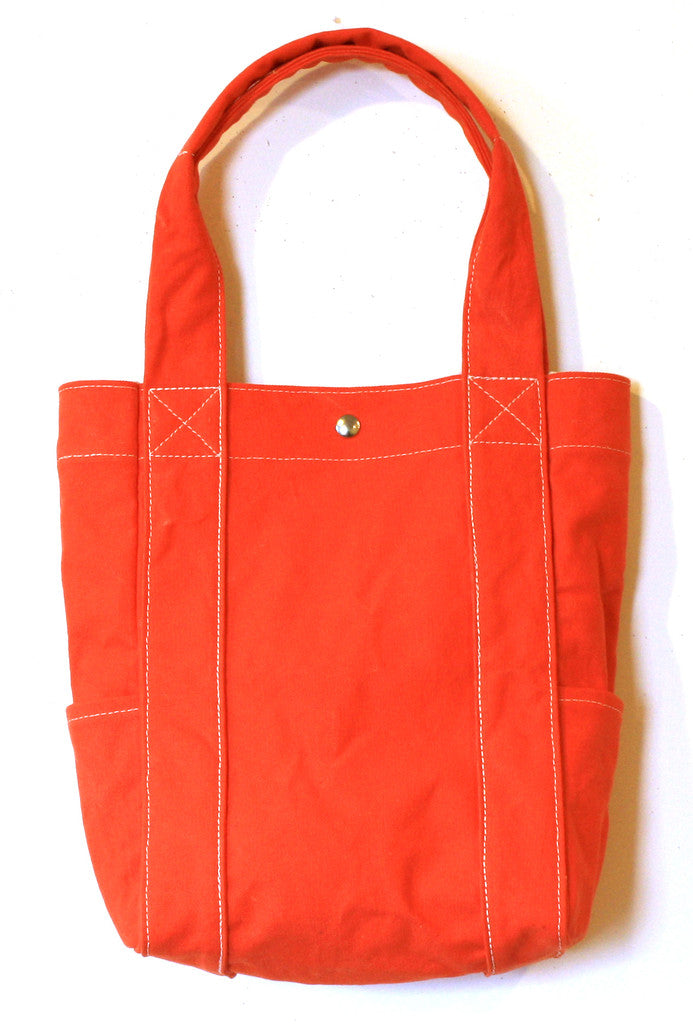 washed tote - orange