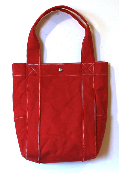 washed tote - red