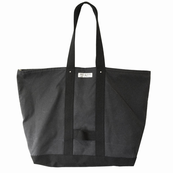 Waxed Coal Bag - navy