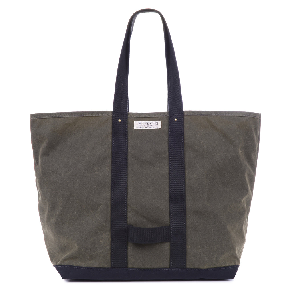 Waxed Coal Bag - olive