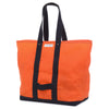 waxed coal bag. orange