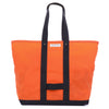 Waxed Coal Bag - orange
