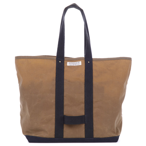 Waxed Coal Bag - tan