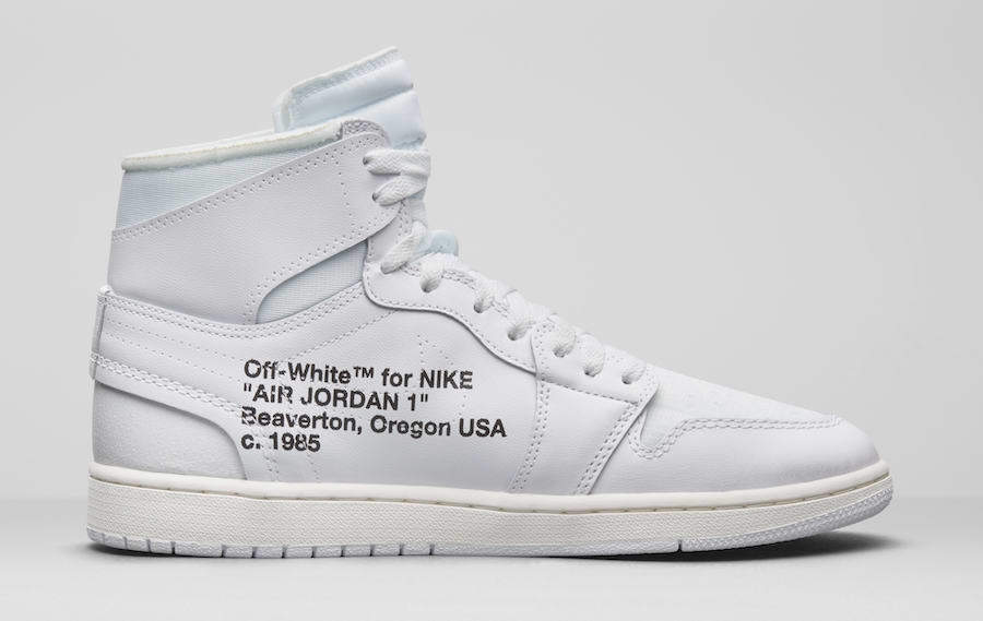 half off 3de05 822c6 Air Jordan 1 Triple White Virgil Abloh X Off White