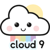 Logo of Cute Smiley Cloud with Rainbow