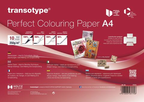 Transotype - Perfect Colouring Paper A4 (10sheets)