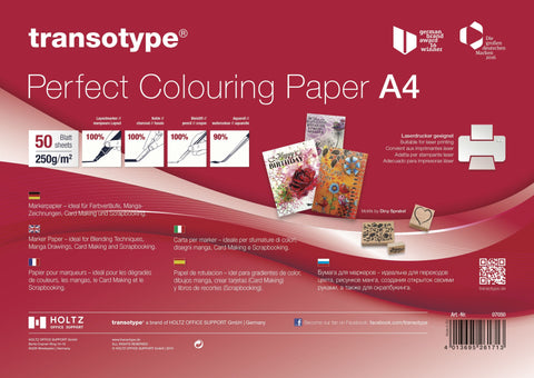 Transotype - Perfect Colouring Paper A4 (50sheets)
