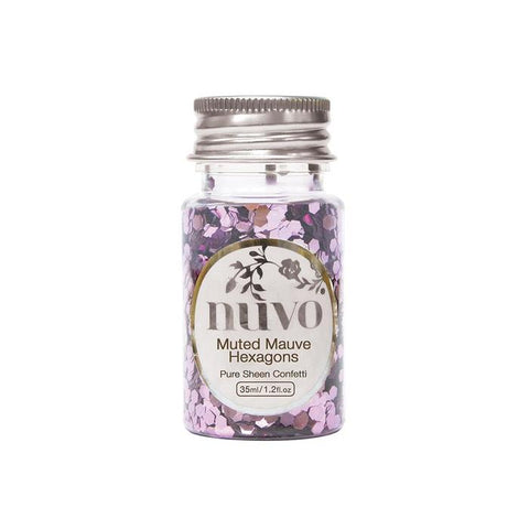 Tonic Studios - Nuvo confetti 35ml muted mauve hexagons