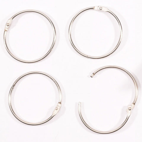 Vaessen Creative - Book binding rings 50mm 12pcs Silver