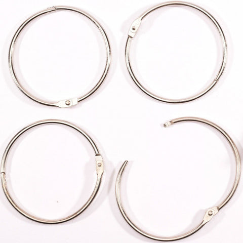 Vaessen Creative - Book binding rings 75mm 6pcs Silver