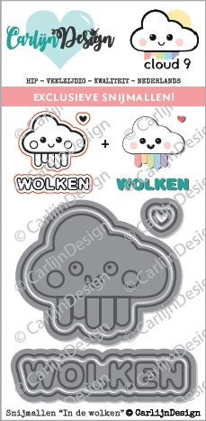 *Cloud9 Crafts & CarlijnDesign - Stempel In de wolken (In the clouds) Limited Edition Cuts