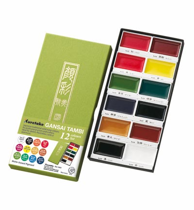 Kuretake - Gansai Tambi Set 12 colors
