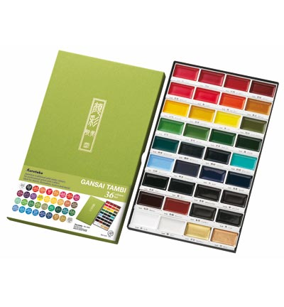 Kuretake - Gansai Tambi Set 36 colors