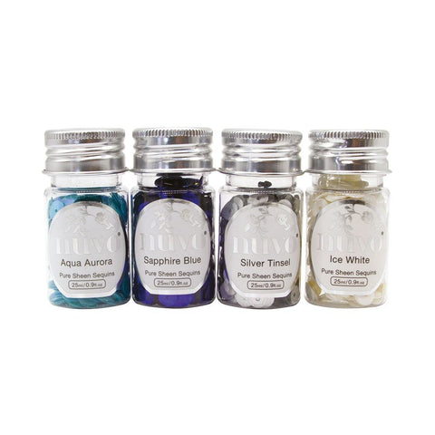 Tonic Studio's - Nuvo Pure Sheen 4 Pack Let It Snow Confetti