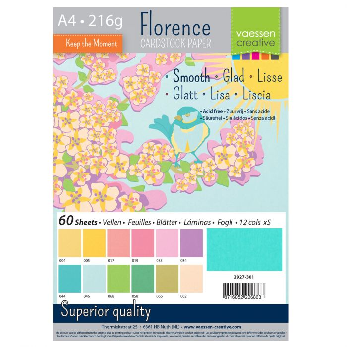 Vaessen Creative - Florence Smooth Cardstock Paper Pack Spring