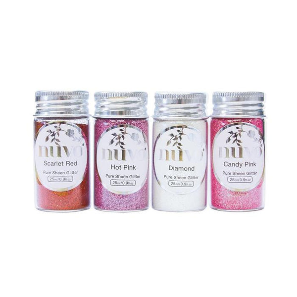Tonic Studio's - Nuvo Pure Sheen 4 Pack Cross My Heart Glitter