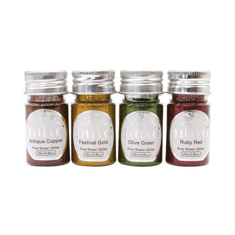 Tonic Studio's - Nuvo Pure Sheen 4 Pack Jingle Bells Glitter