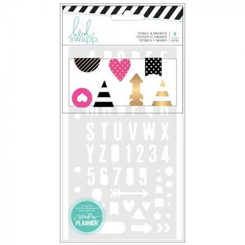 Heidi Swapp - Memory Planner Magnetic Clips & Stencil