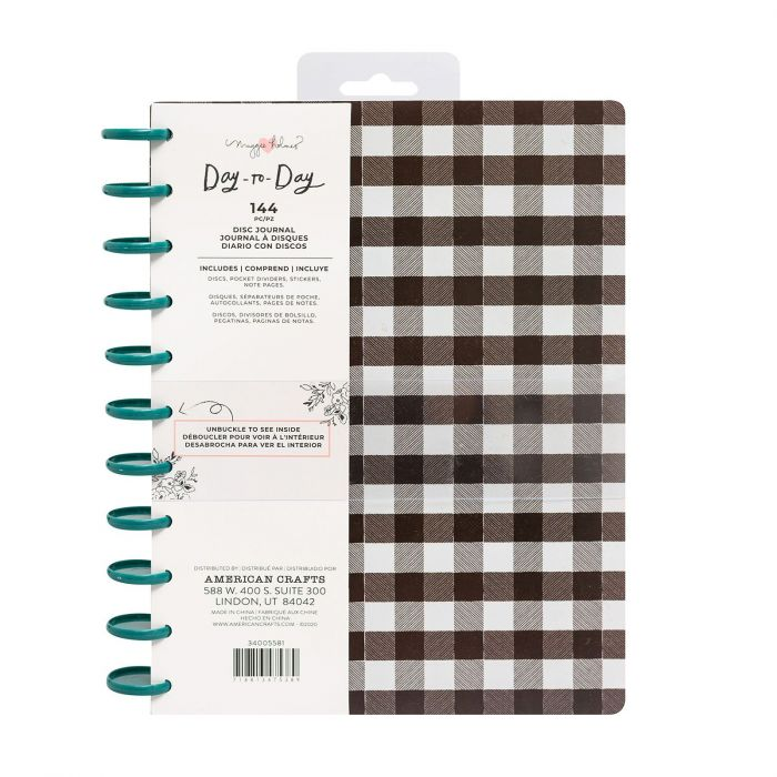 American Crafts - Crate Paper Day-to-Day disc planner Checkerboard