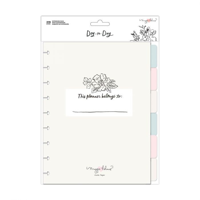 American Crafts - Crate Paper Day-to-Day disc planner Extension pack