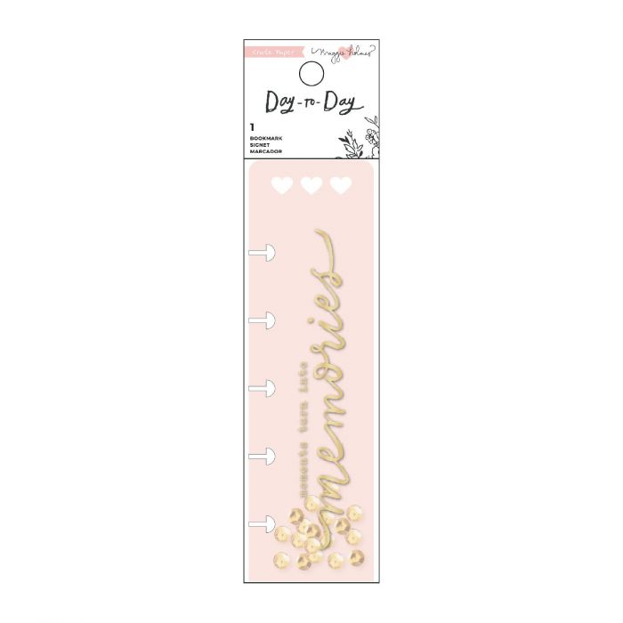 American Crafts - Crate Paper Day-to-Day disc planner bookmarks Gold foil