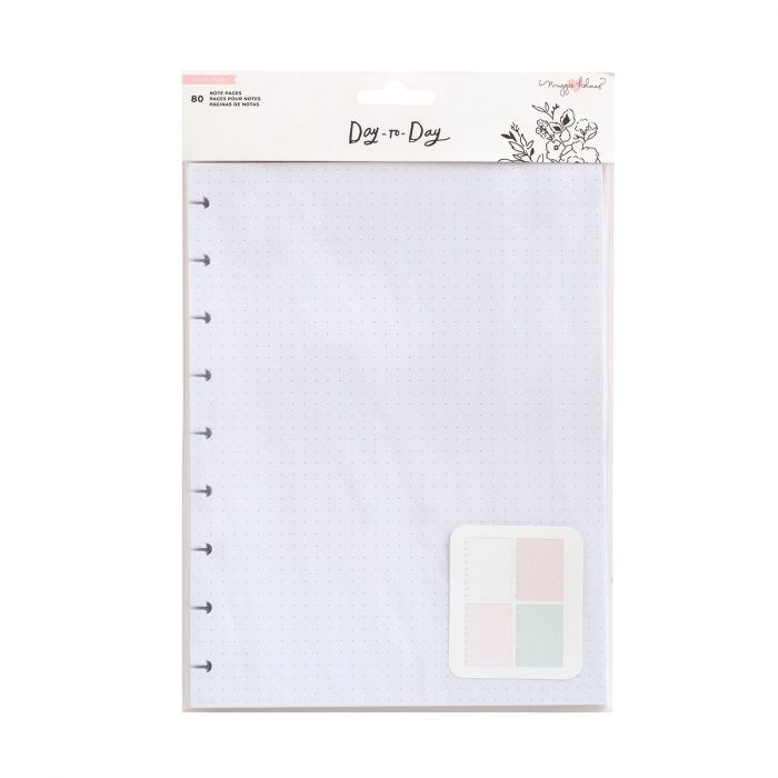 American Crafts - Crate Paper Day-to-Day disc planner Note pages