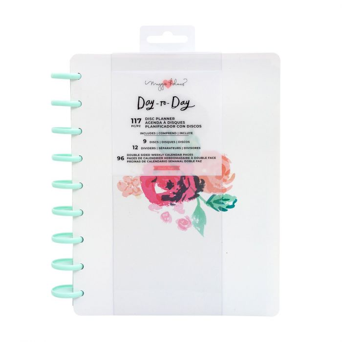American Crafts - Crate Paper Day-to-Day disc planner Blossom