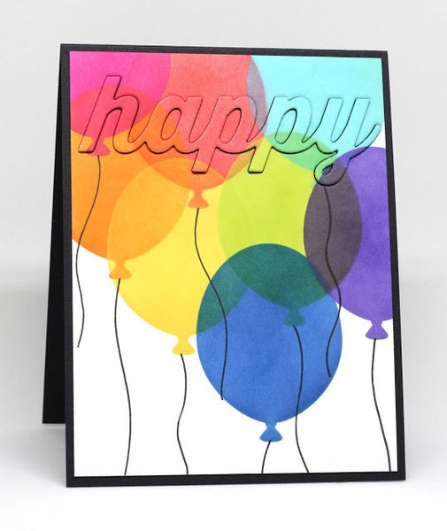 My Favorite Things - Stencil Big Balloons
