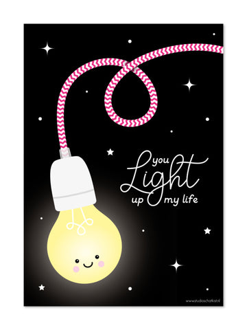 Studio Schatkist - Poster A4 | You light up my life
