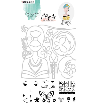 Studio Light - Karin Joan Clear Stamp & Die Cut Betty Missees Collection (Base)