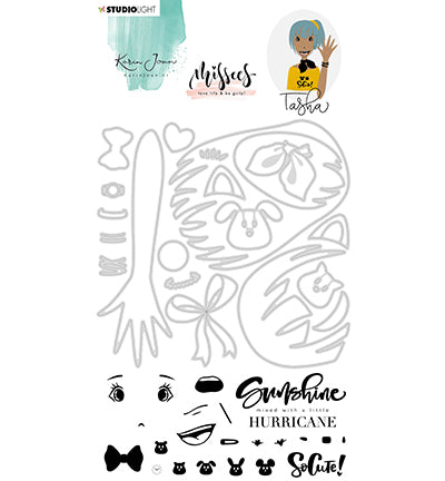 Studio Light - Karin Joan Clear Stamp & Die Cut Add-On Tasha Missees Collection
