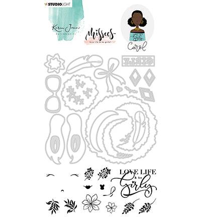 Studio Light - Karin Joan Clear Stamp & Die Cut Add-On Carol Missees Collection