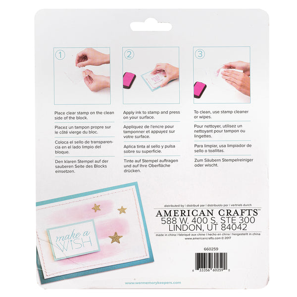 We R Memory Keepers - Acrylic Block Stamping Set (3pcs)