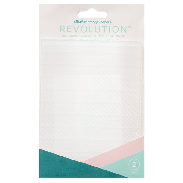 We R Memory Keepers - Stripes Revolution Embossing Folder (2pcs)