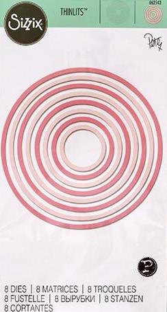 Sizzix - Thinlits die set x8 concentric circles