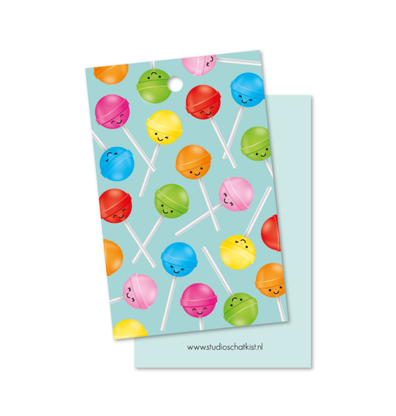 Studio Schatkist - Kadolabel | Patroon lolly's mint