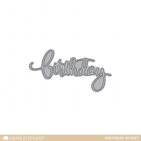 Mama Elephant - Birthday Script - Creative Cuts