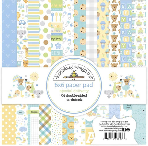 Doodlebug Design - Special Delivery 6x6 Inch Paper Pad