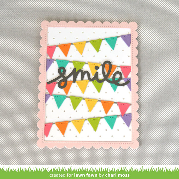 Lawn Fawn - stitched scalloped rectangle frames