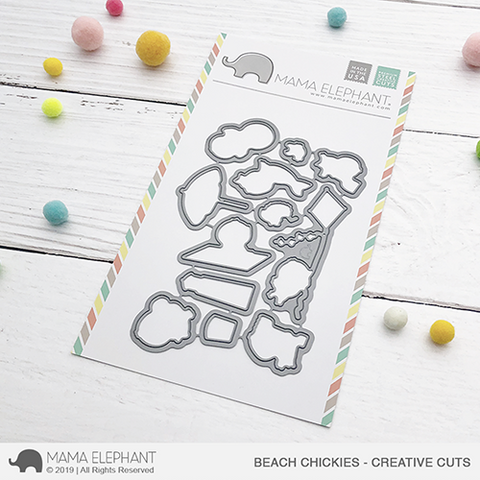 Mama Elephant - Beach Chickies Creative Cuts