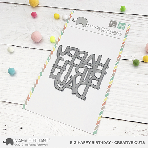 Mama Elephant - Big Happy Birthday Creative Cuts