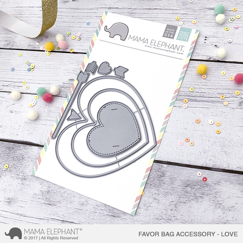 Mama Elephant - Favor Bag Accessory - Love - Creative Cuts