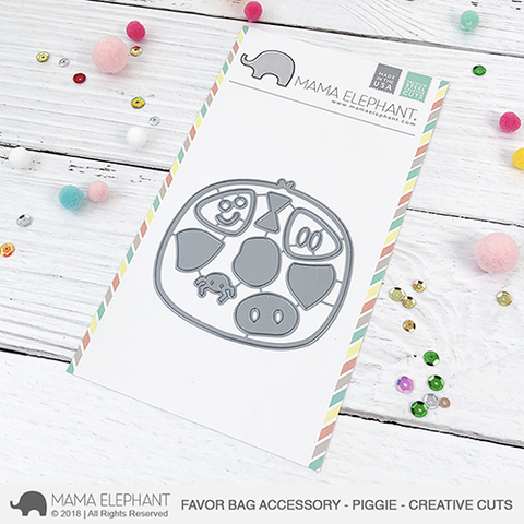 Mama Elephant - Favor Bag Accessory - Piggie - Creative Cuts
