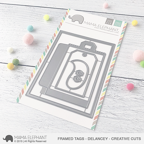 Mama Elephant - Framed Tags - Delancey - Creative Cuts