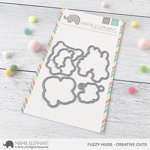 Mama Elephant - Fuzzy Hugs - Creative Cuts